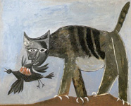 Picasso Cat and bird